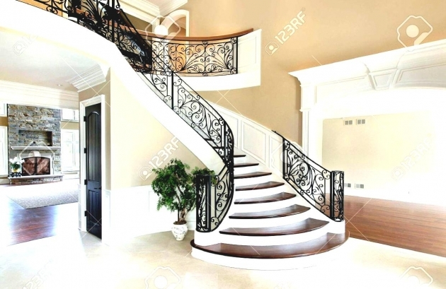 Grand Staircases Design Foyer In New Construction Home Pictures 26