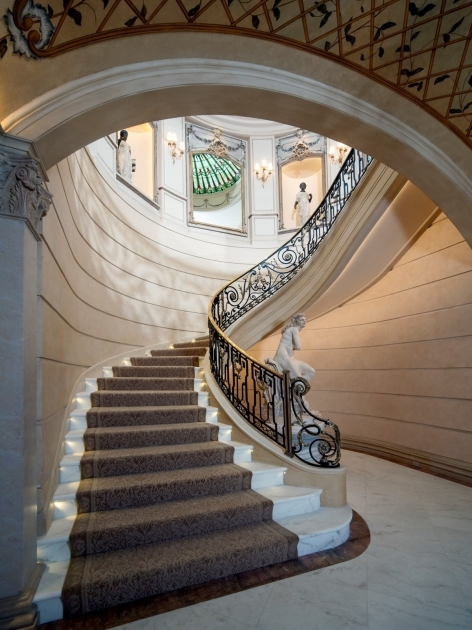 Grand Staircases Design Neoclassical Chateau Estate Texas Image 00