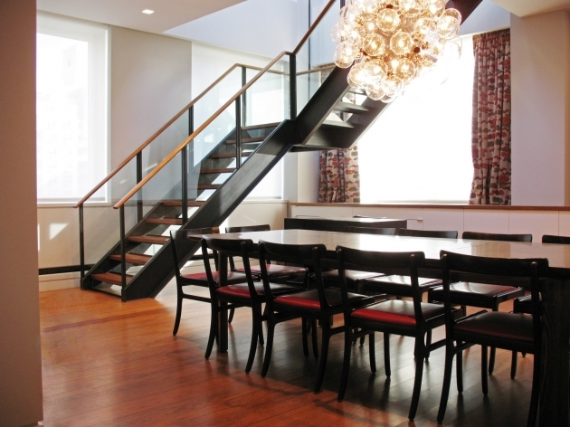 Metal Staircase Design And Wood Pic 34
