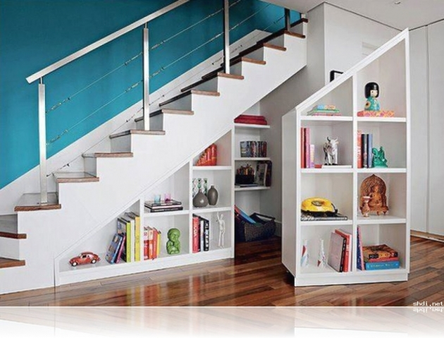Shelves Under Stairs Storage Home Modern Ideas Pic 11