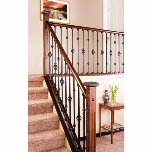 Simple Staircase Railings Indoor Axxys 8 Ft Stair Rail Kit Axhsr8b32i Image 32