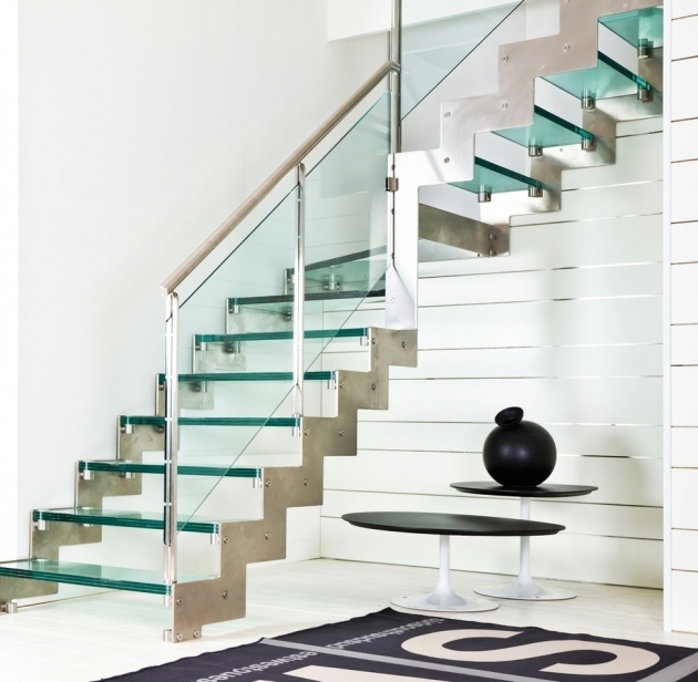 Staircase Glass Railing Designs Decor With Accent Your Stairs Using Metal Stair Railing And Entryway Tables And Area Rug Image 19