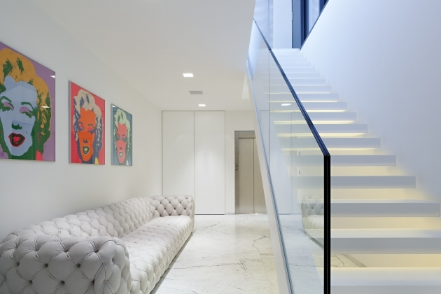 Staircase Glass Railing Designs House M Monovolume Architecture Design In Meran Italy Pictures 09
