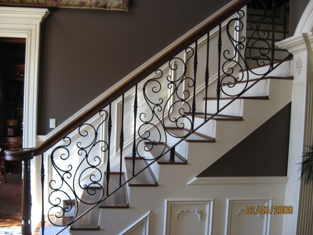 Staircase Railings Indoor Ideas About Wrought Iron Stairs Pictures 16