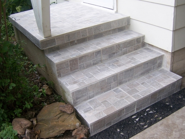 Tiling Stairs Edge Family Tree How To Update Exterior Concrete Steps Images 97