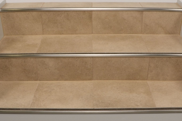 Tiling Stairs Edge Schluter Trep G Gk Slip Resistant Treads For Stairs Photos 12