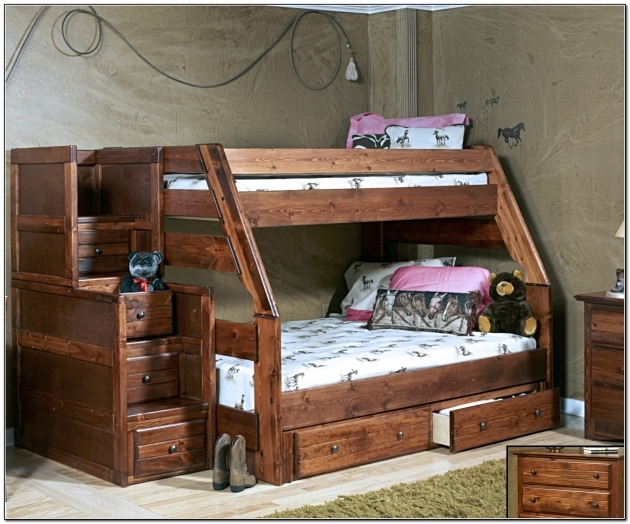 Twin Over Full Bunk Bed With Stairs And Storage Plans Wooden Furniture Twin Bunk Beds With Stairs Photos 14