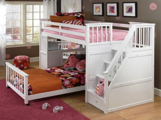 Twin Over Twin Bunk Beds With Stairs For Girls Kids Furniture Ideas Twin Bunk Beds With Stairs Pic 24