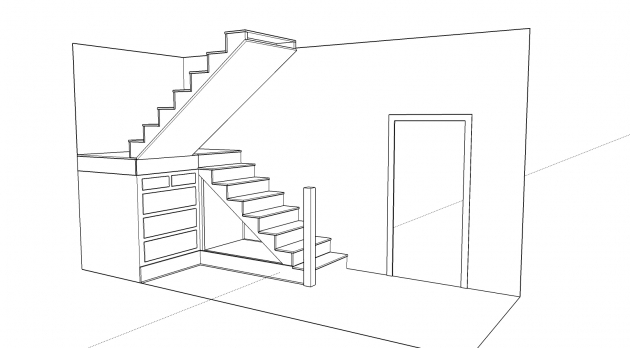 Under Stairs Storage Plans Design Drawing Images 58