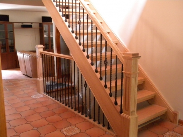 Wood Handrail Profiles And Iron Balusters Wooden Stairs Pics 10