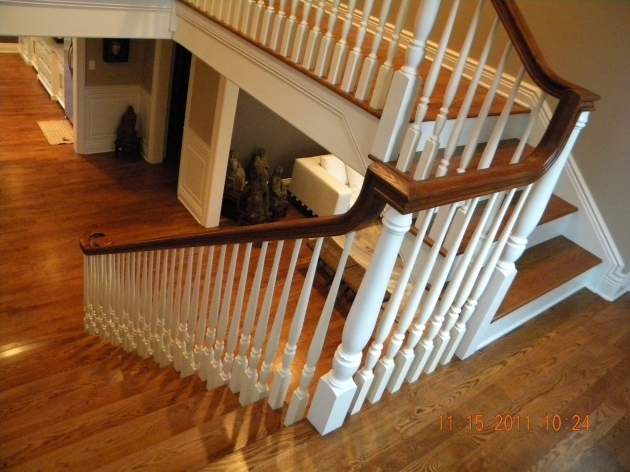 Wood Railing And Balusters Wood Handrail Post Stair Image 68