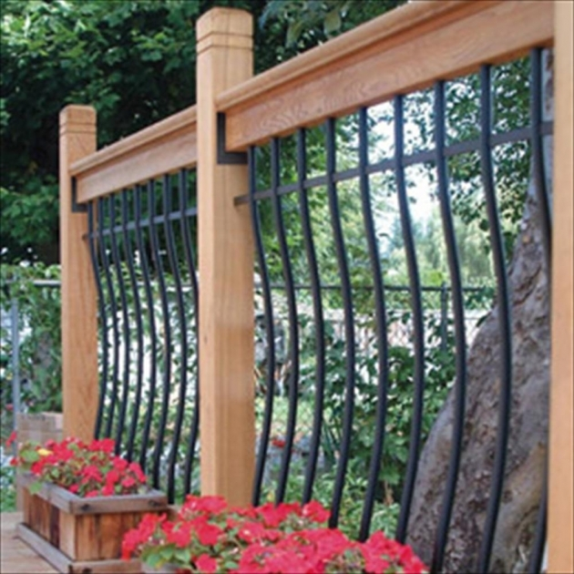 Wood Railing Kits Decking Ideas Picture 66