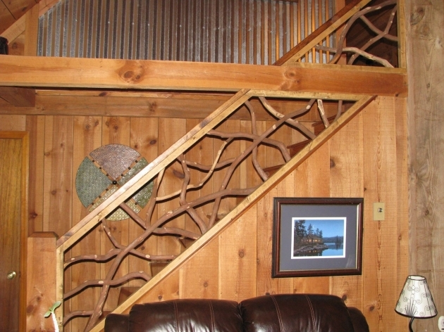 Wood Railing Made Mountain Laurel Interior Railing With Distressed Wood Handrails Images 20