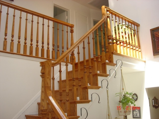 Wood Railing Stair Design Ideas Images 37