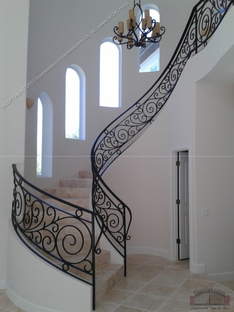 Wrought Iron Stair Railing Ideas Picture 63