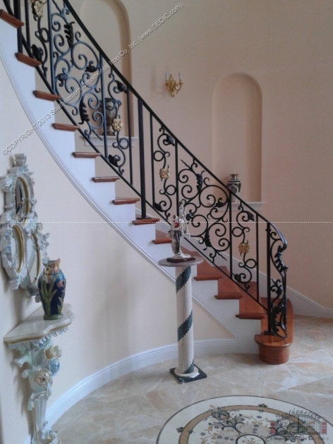 Wrought Iron Stair Railing Southeastern Ornamental Iron Works Pictures 76