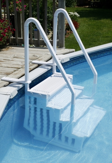 Above Ground Pool Stairs Ladder Or Steps Picture 57