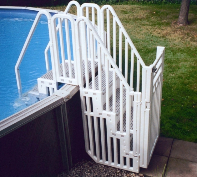 Above Ground Pool Stairs Ladder Safety Gate  Image 69