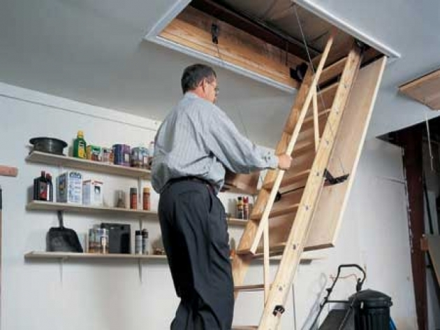 Attic Pulldown Stairs Bedroom Ideas Images 14