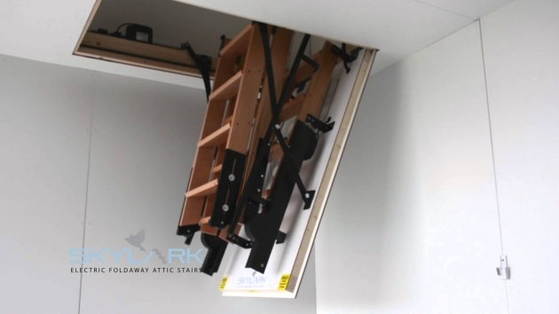 Attic Pulldown Stairs Skylark Electric Foldaway With Remote Control Photos 10