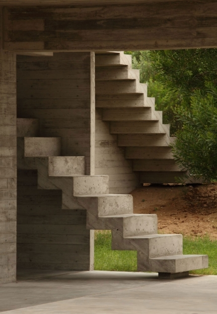 Basement Cement Staircase Design Stairs Without Railing Pictures 30