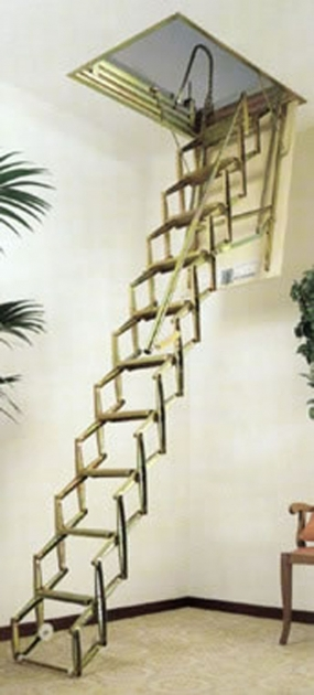 Basic Attic Pulldown Stairs Home Stair Design Folding Stair Home Decor Photo 11