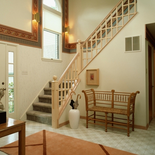Home Design With Beige Staircase Idea In The Entryway Interior Stair Design For Small Spaces Image 72