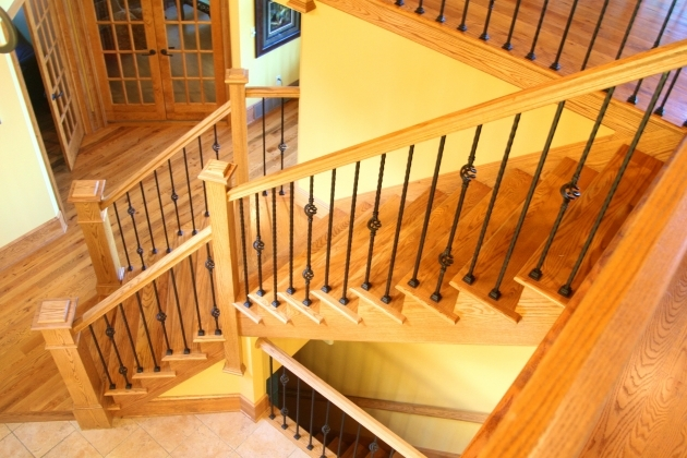 Home Floating Wood Staircase Denoyer Antique Stair Pole Image 73