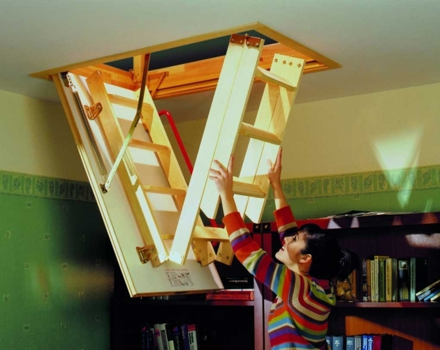 How To Install Attic Pulldown Stairs Wooden Image 90