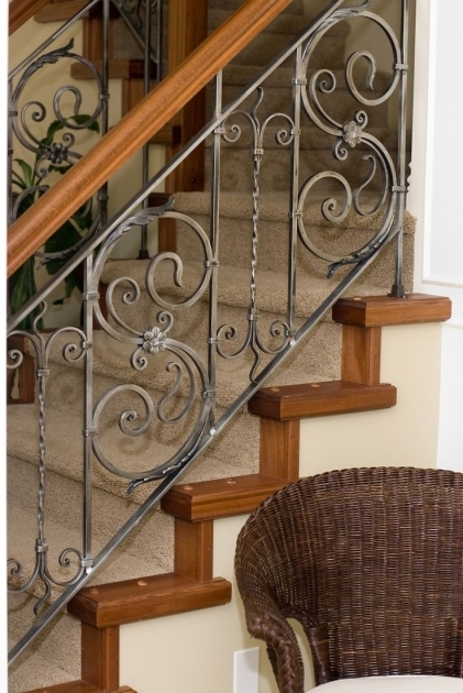 Ideas Iron Stair Railing Wrought Iron Stair Grill Design 86
