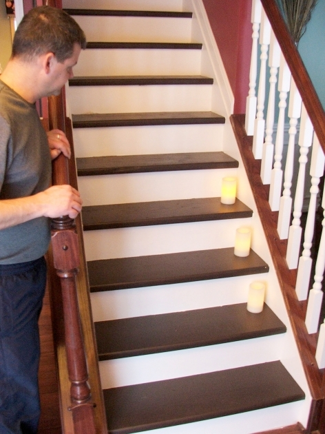 Laminate Stair Treads Under 100 Carpeted Stair To Wooden Tread Makeover Diy Photos 48