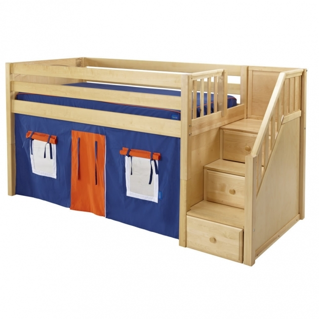 Maxtrix Playhouse Loft Bed With Stairs In White And Panel Bed Images 95