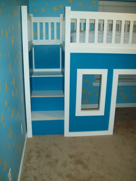 Playhouse Loft Bed With Stairs And Slide Ideas Diy Projects Picture 29