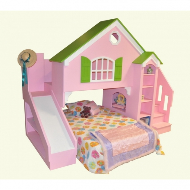 Playhouse Loft Bed With Stairs And Slide Ideas Photos 84
