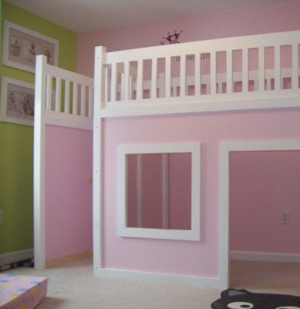 Playhouse Loft Bed With Stairs And Storage Photos 43