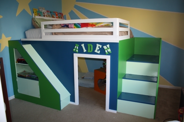 Playhouse Loft Bed With Stairs Build Queen Size Loft Bed Diy Picture 65
