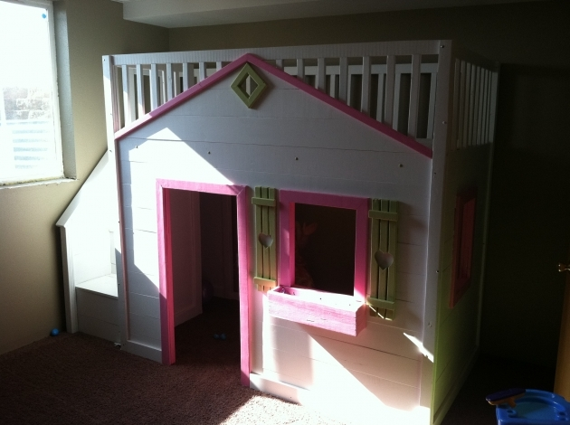 Playhouse Loft Bed With Stairs Diy Home Projects Images 60