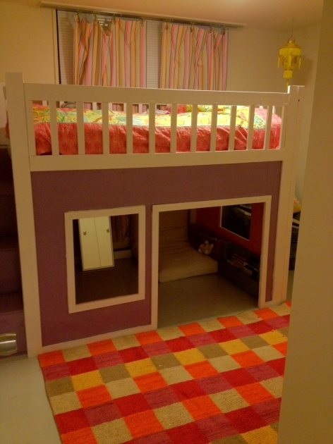 Playhouse Loft Bed With Stairs Diy Projects Pictures 48