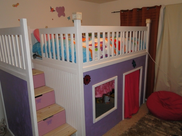 Playhouse Loft Bed With Stairs Full Over Bedroom Decoration Ideas Images 40