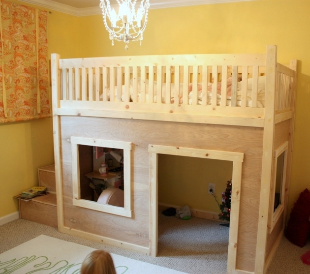 Playhouse Loft Bed With Stairs Short Bunk Pictures 62