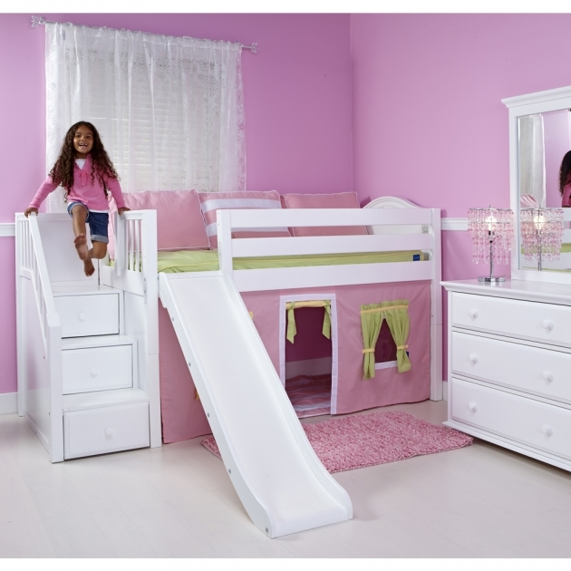 Playhouse Loft Bed With Stairs With Slides For Kids Bedroom Photos 57