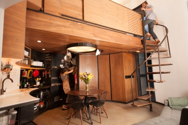Remodel Silo 340 Sq Ft Tiny House Spiral Staircase Picture 80