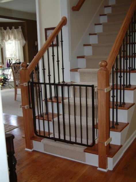 Safety Gates For Stairs Black Wrought Iron Child Photos 83