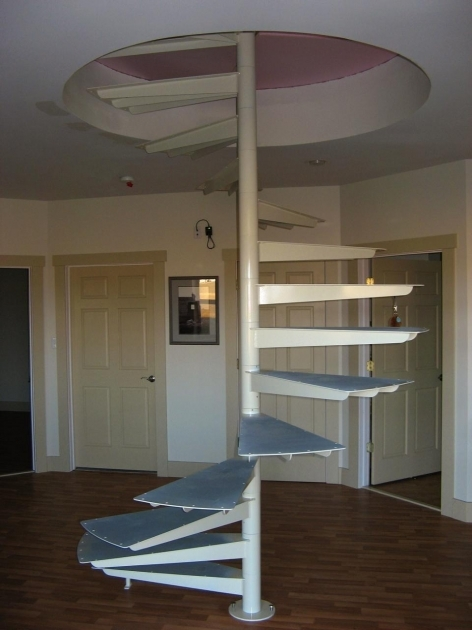 Simple Spiral Ways Stairs Without Railing Images 72