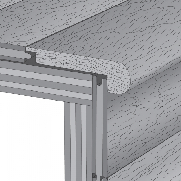 Stair Nose Lowes Bruce 275 In X 78 In Gunstock Stair Nose Floor Moulding Image 14