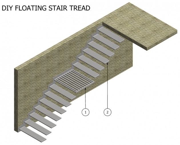 Stair Tread Kit COMPLETE ASS WITH LANDING Pictures 10