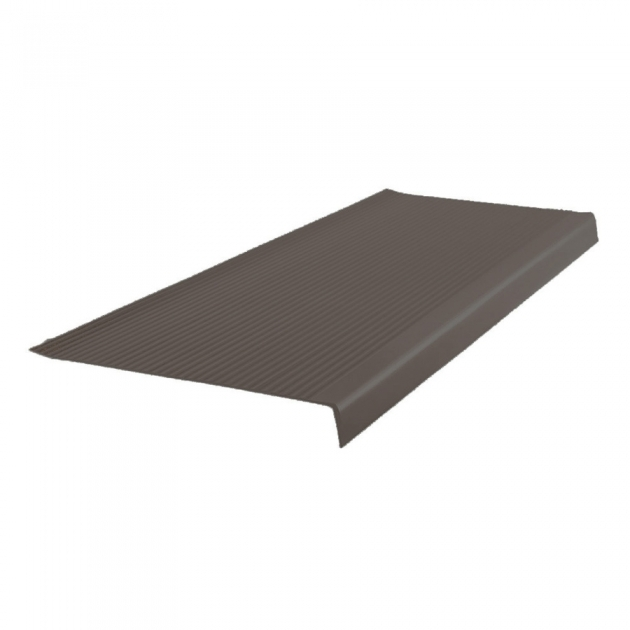 Stair Treads Lowes Shop Flexco 125 In X 48 In Bark Vinyl Square Nose Stair Treads Photos 02