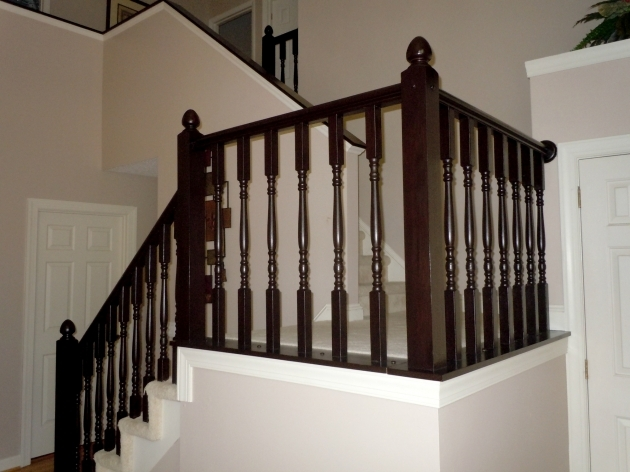 Staircase Railing Remodel  Diy Stair Banister Makeover Using Gel Stain Photo 59