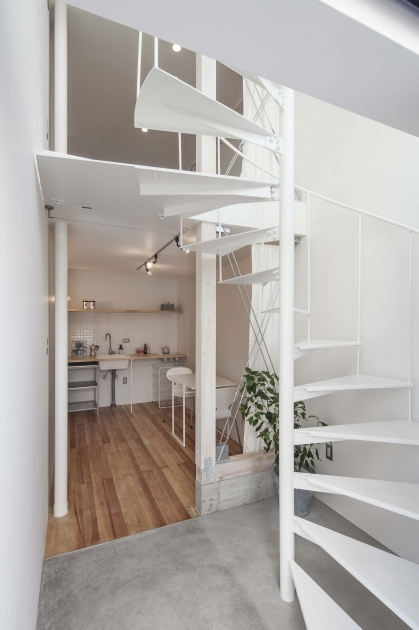 Tiny House Spiral Staircase Japan Design Apartment Picture 56