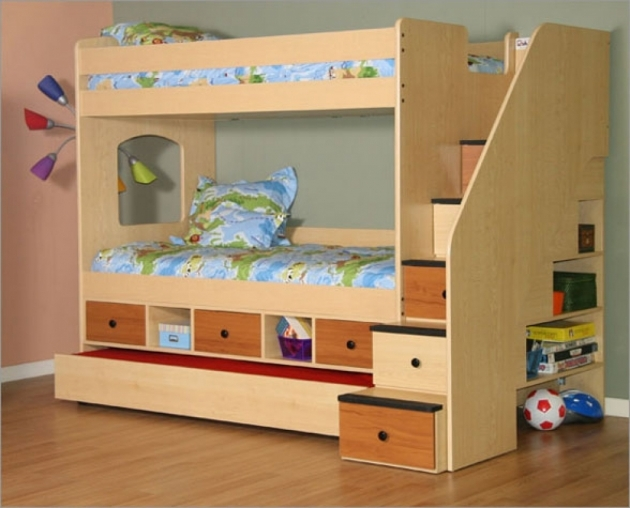 Toddler Bunk Beds With Stairs And Storage Design Ideas Photos 46